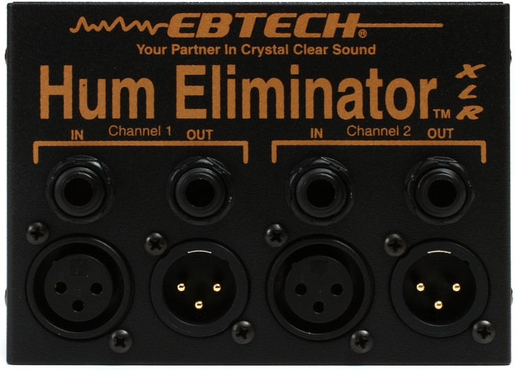 Ebtech HE-2 XLR 2-channel Stereo Hum Eliminator with XLR image 1