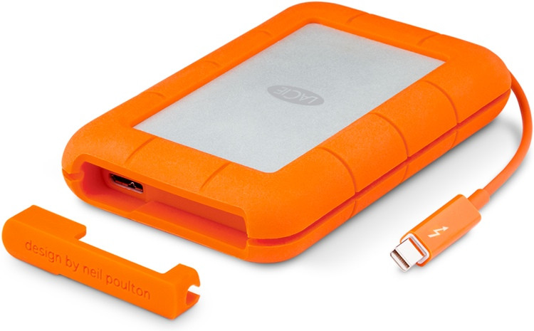 LaCie Rugged Thunderbolt USB 3.0 - 250GB Portable Solid State Drive image 1