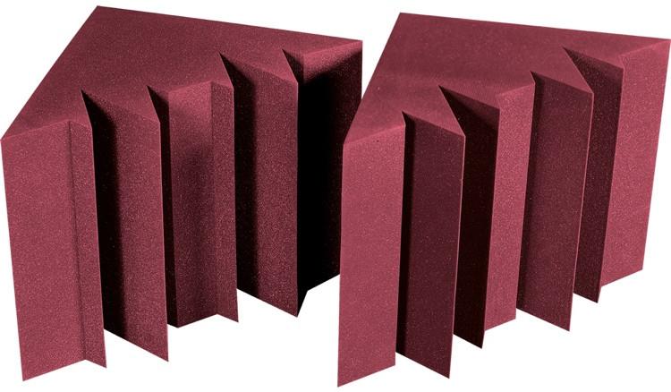 Auralex MegaLENRD Bass Traps - 2-Pack, Burgundy image 1
