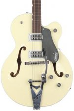 Gretsch G6118T-LIV Players Edition Anniversary - 2-tone Lotus Ivory/Charcoal Metallic, Bigsby
