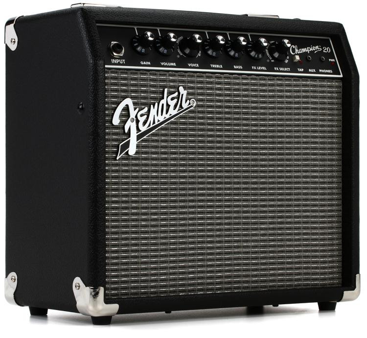 fender champion 20 20 watt 1x8 combo amp sweetwater. Black Bedroom Furniture Sets. Home Design Ideas