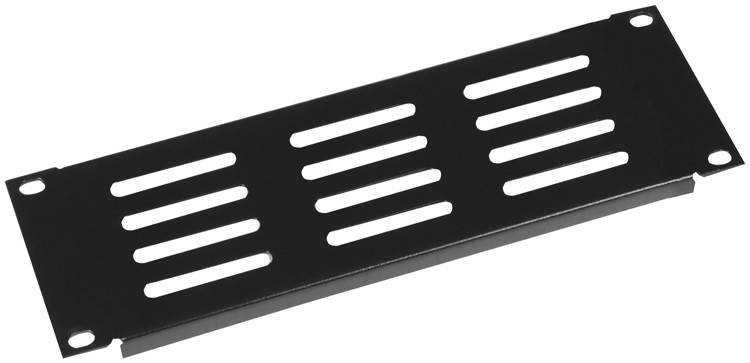 Gator GRW-HALFRKPNLVNT1 - Half Rack Standard Width 1U vented panel image 1