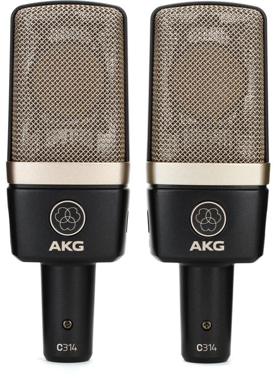AKG C314 Multi-Pattern Condenser Microphone - Matched Stereo Pair image 1