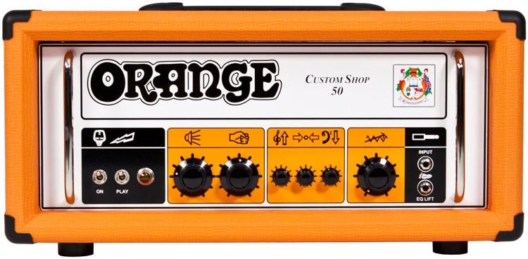 Orange CS50 Custom Shop 50-watt Tube Head image 1