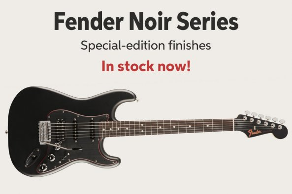Fender Noir Series Special-edition finishes In stock now!