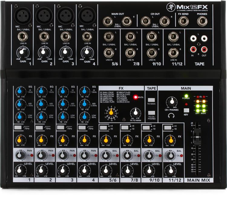 Mackie Mix12FX Mixer with Effects image 1