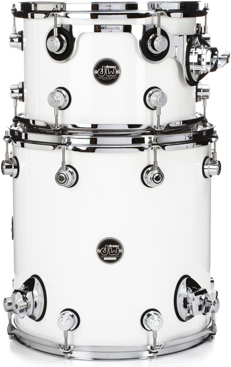 DW Performance Series 2-Piece Bop Tom Pack - Gloss White Finish Ply image 1