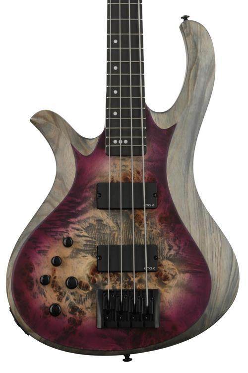 schecter riot 4 bass left handed aurora burst sweetwater. Black Bedroom Furniture Sets. Home Design Ideas