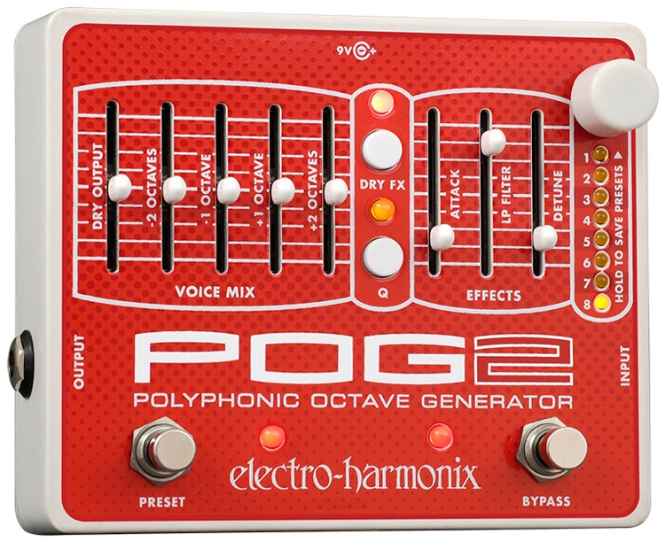 Electro-Harmonix POG2 Polyphonic Octave Generator Pedal image 1