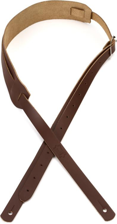 levy 39 s m11 genuine leather guitar strap brown sweetwater. Black Bedroom Furniture Sets. Home Design Ideas