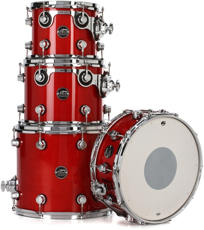 DW Performance Series 4-piece Tom/Snare Pack - Candy Apple Lacquer image 1