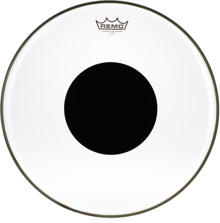 Remo Controlled Sound Clear/Black Dot Drumhead - 16
