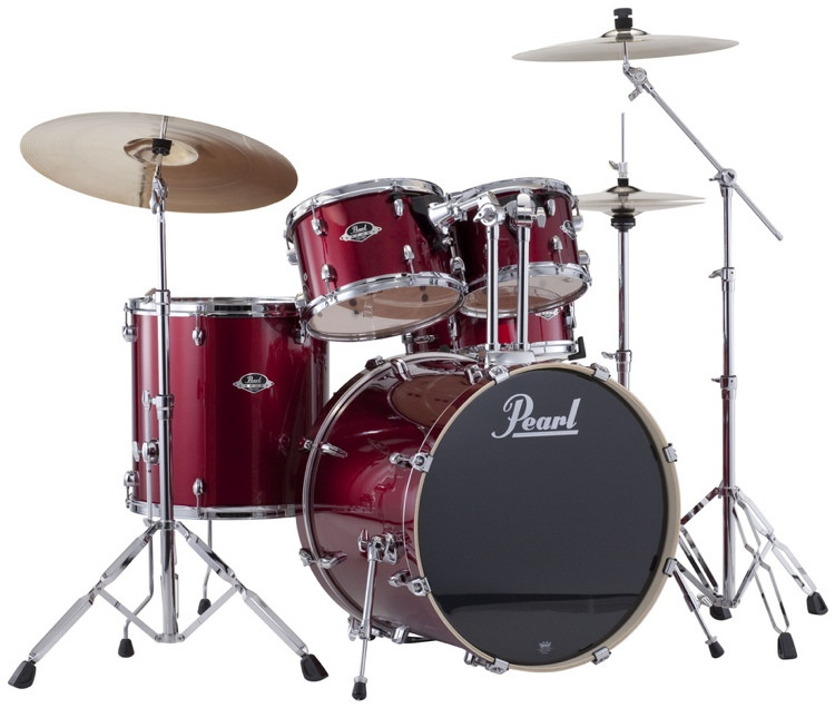 Pearl Export EXX 5-piece Drum Set with Hardware - Fusion Configuration- Red Wine image 1