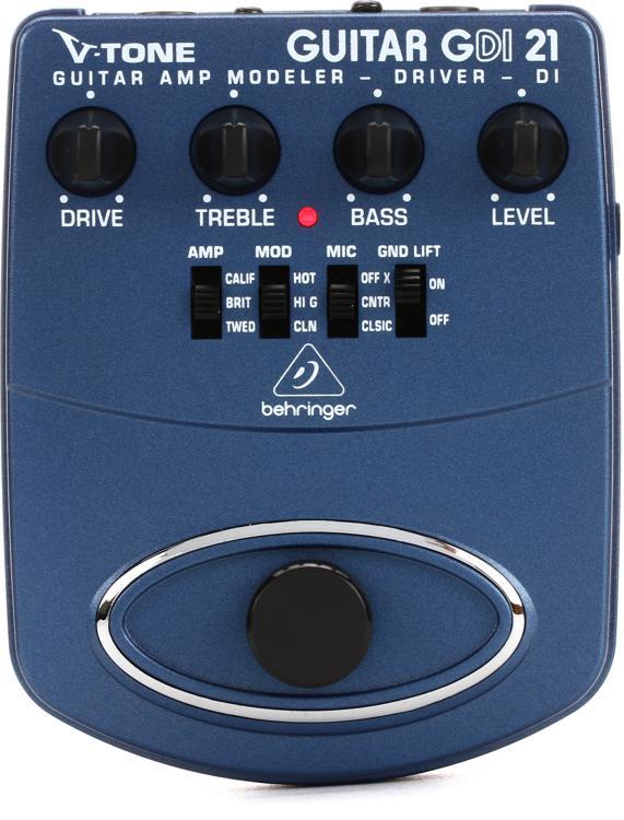 Behringer GDI21 V-Tone Guitar Driver DI Pedal image 1