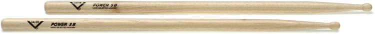 Vater American Hickory Drumsticks - Power 5B Wood Tip image 1