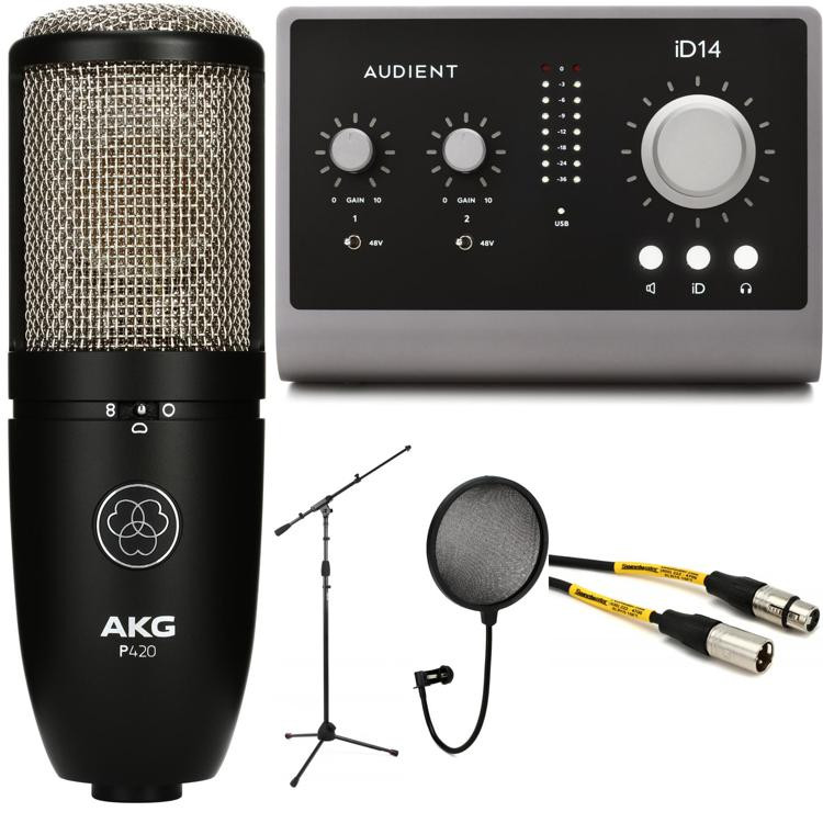 audient id14 audio interface with akg perception 420 sweetwater. Black Bedroom Furniture Sets. Home Design Ideas