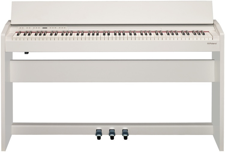 roland f 140r digital piano white sweetwater. Black Bedroom Furniture Sets. Home Design Ideas
