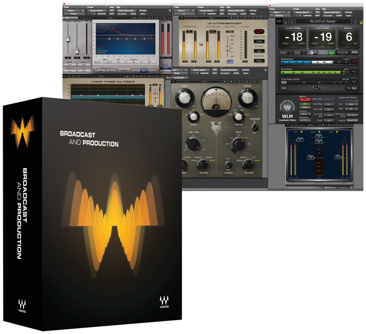 Waves Broadcast & Production Plug-in Bundle for Academic Institutions image 1