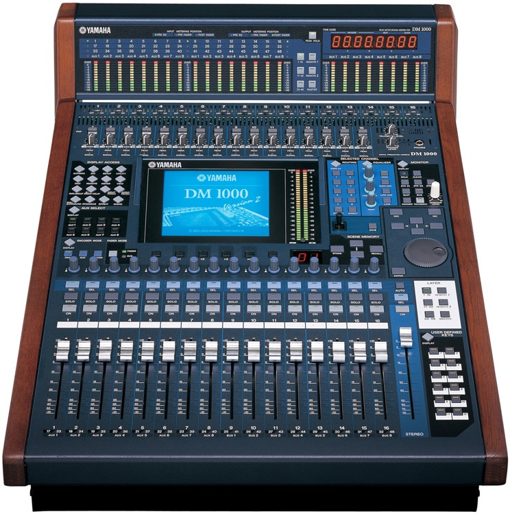 yamaha dm 1000 vcm v2 digital mixer sweetwater. Black Bedroom Furniture Sets. Home Design Ideas
