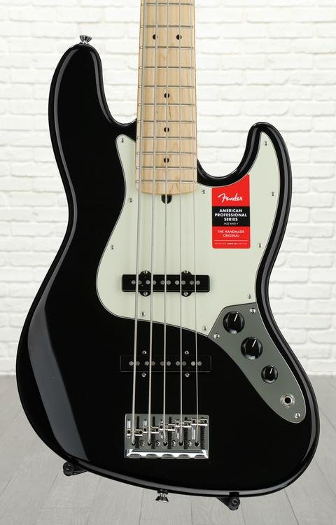 Fender American Professional Jazz Bass V - Black with Maple Fingerboard