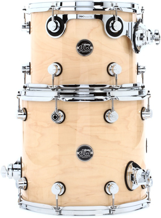 DW Performance Series 2 Piece Bop Tom Pack - Natural Lacquer image 1