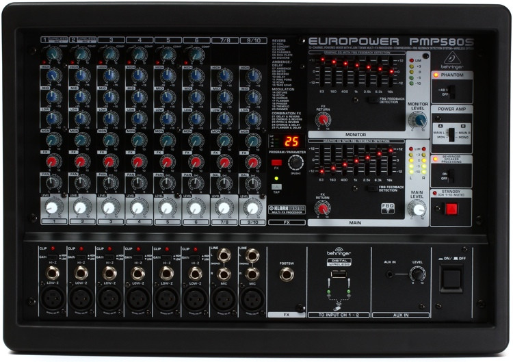Behringer Europower PMP580S 10-channel 500W Powered Mixer image 1