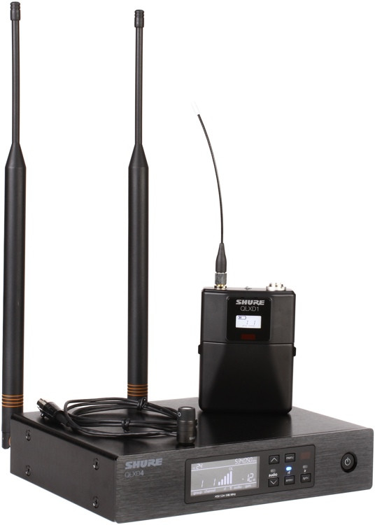 Shure QLXD14/83 Wireless Lavalier System - H50 Band, 534-597MHz image 1