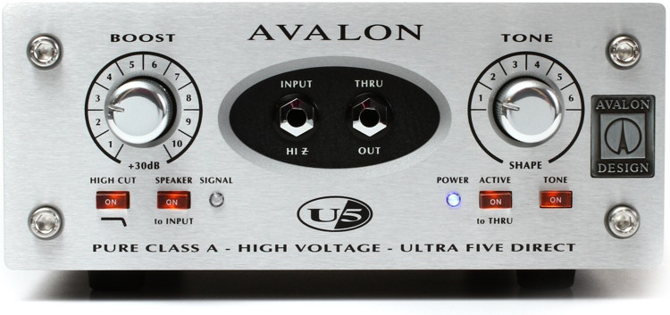 Avalon U5 1-channel Active Preamp / Direct Box image 1