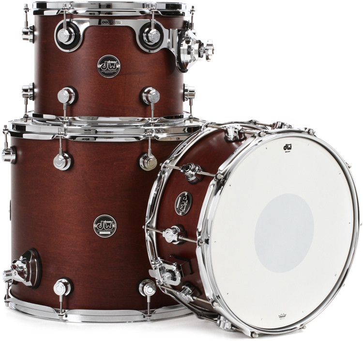 DW Performance Series 3-pc Tom/Snare Pack - Tobacco Satin Oil image 1