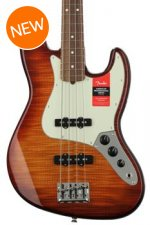 Fender Exotic Series American Professional Flame Maple Top Jazz Bass - Aged Cherry Burst