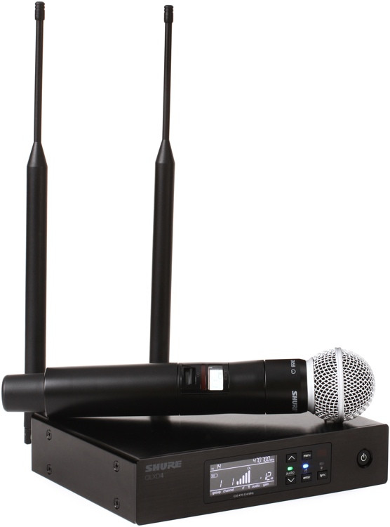 Shure QLXD24/SM58 Handheld Wireless System - G50 Band, 470-534MHz image 1