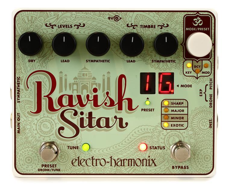 electro harmonix ravish sitar emulation pedal sweetwater. Black Bedroom Furniture Sets. Home Design Ideas