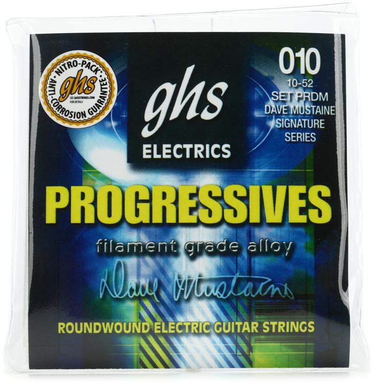 GHS PRDM Progressives Dave Mustaine Roundwound Electric Guitar Strings image 1