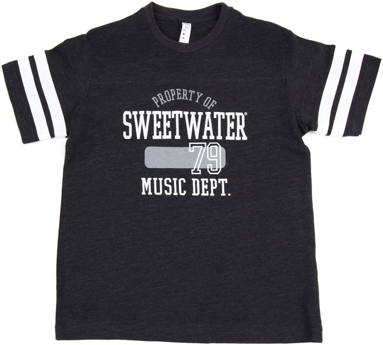 Sweetwater Vintage Navy/White Football Jersey T-shirt - Youth Medium image 1