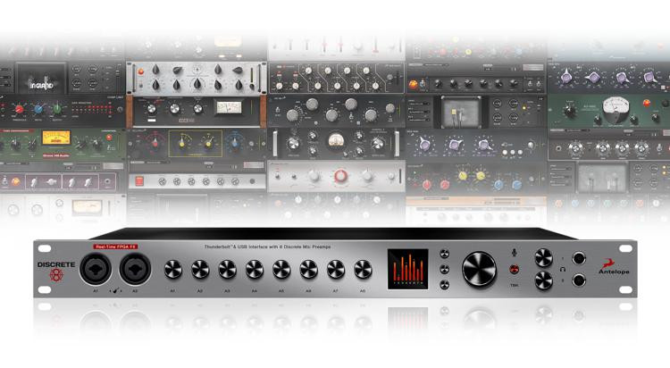 antelope audio discrete 8 afx microphone preamp and thunderbolt usb interface sweetwater. Black Bedroom Furniture Sets. Home Design Ideas
