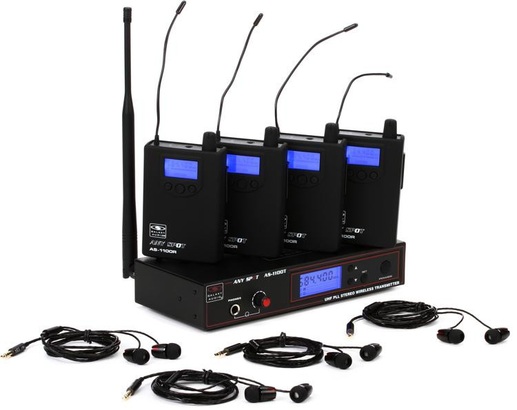 Galaxy Audio Any Spot AS-1100-4 Band Pack System - D-Band image 1