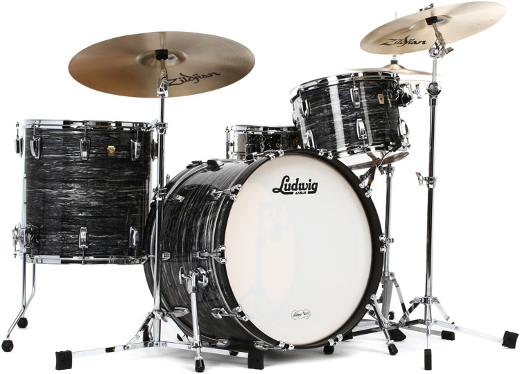 Ludwig Classic Maple Pro Beat 24 Shell Pack - Vintage Black Oyster Pearl image 1
