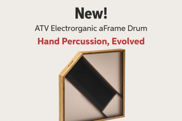 New! ATV Electrorganic aFrame Drum Hand Percussiom Evolved