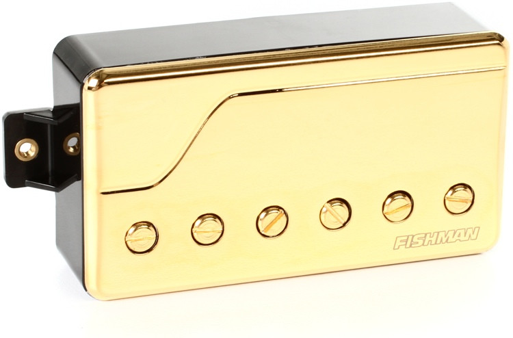 Fishman Fluence Classic Humbucker Pickup Bridge Position with Gold Cover image 1