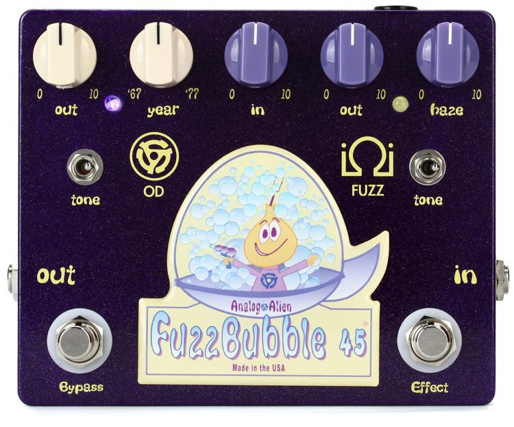 Analog Alien Fuzzbubble-45 Overdrive and Fuzz Pedal image 1