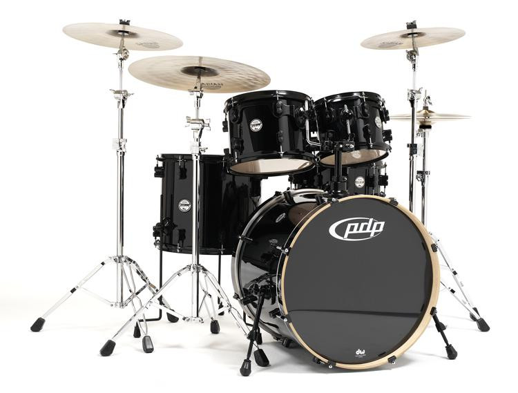 PDP Concept Maple Shell Pack - 5-piece - Pearlescent Black image 1