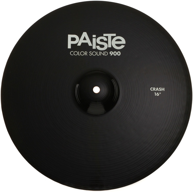 paiste color sound 900 crash cymbal 16 black sweetwater. Black Bedroom Furniture Sets. Home Design Ideas
