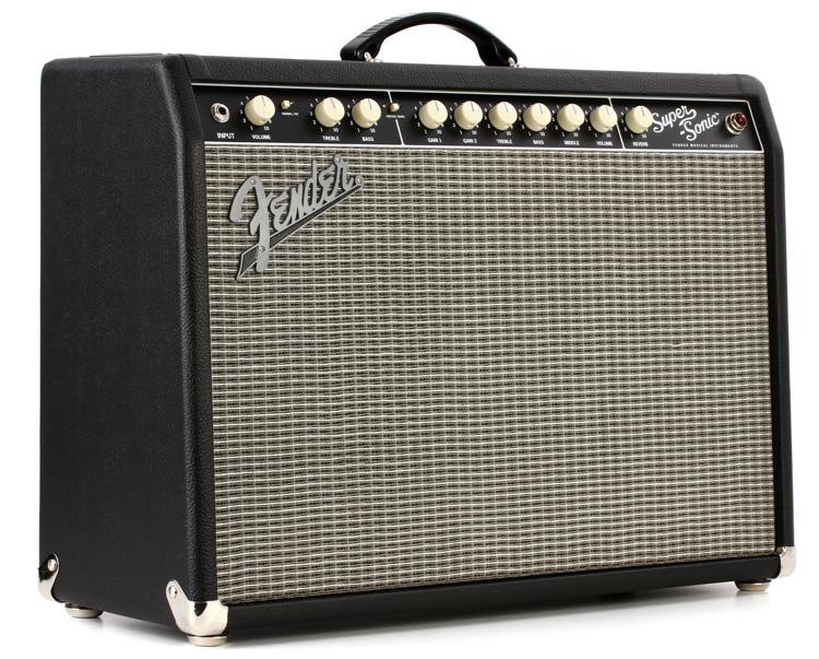 fender super sonic 22 22 watt 1x12 tube combo amp black sweetwater. Black Bedroom Furniture Sets. Home Design Ideas