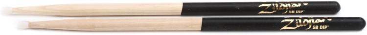 Zildjian Hickory Dip Series Drumsticks - 5B, Nylon Tip, Black Dip image 1