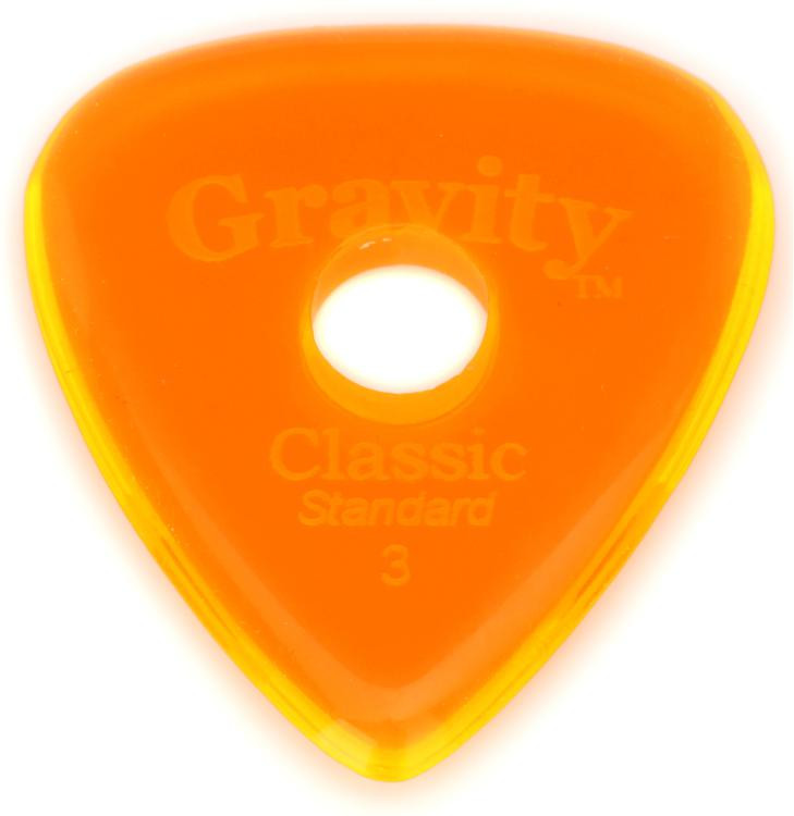 Gravity Picks Classic - Standard Size, 3mm, w/Round-hole Grip image 1