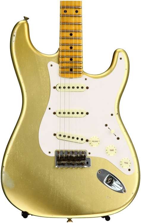 Fender Custom Shop 1957 Time Machine Relic Stratocaster - HLE Gold with Maple Fingerboard image 1