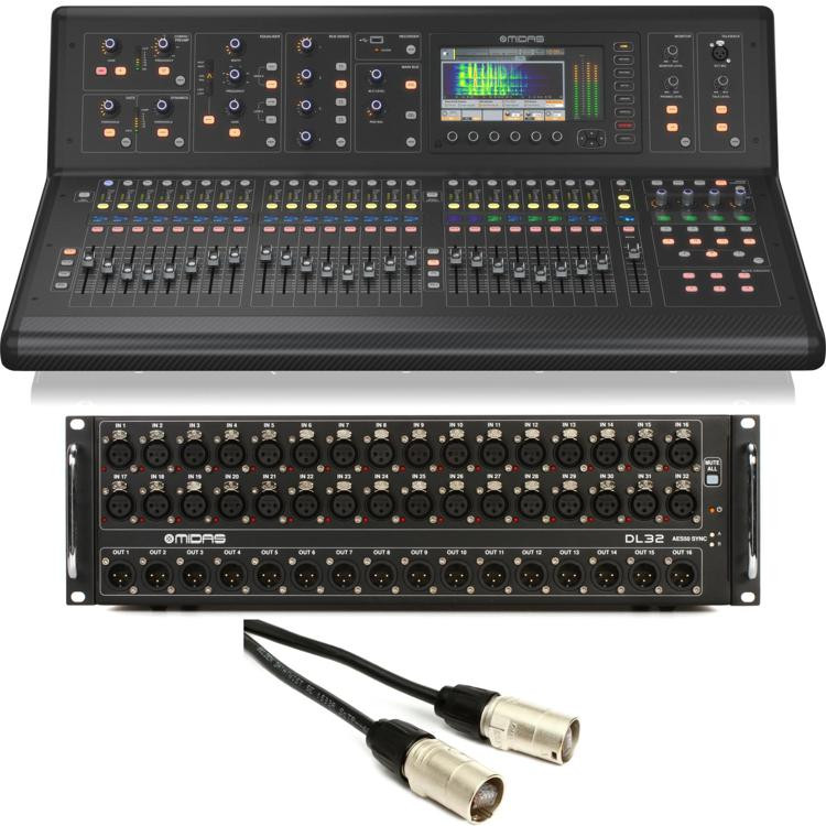 midas m32 digital mixer with stage box sweetwater. Black Bedroom Furniture Sets. Home Design Ideas