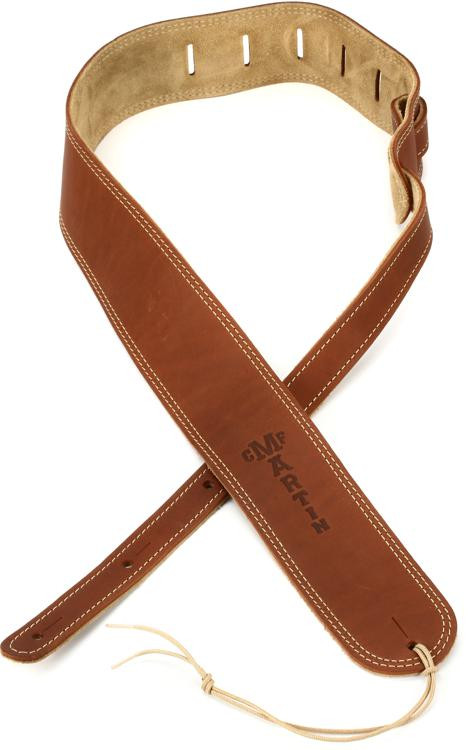 Martin Ball Glove Leather and Suede Guitar Strap - Brown image 1