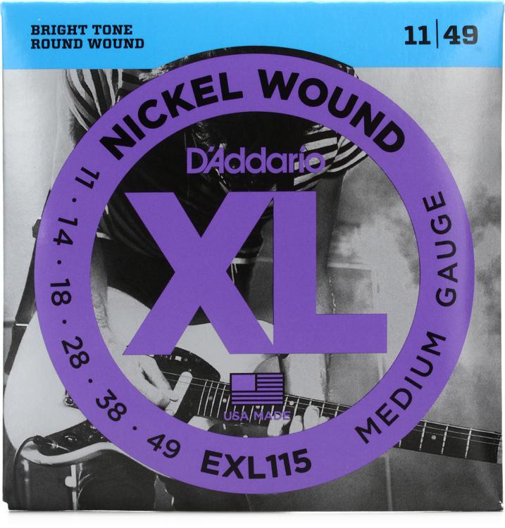 D\'Addario EXL115 Nickel Wound Blues/Jazz Rock Electric Strings image 1