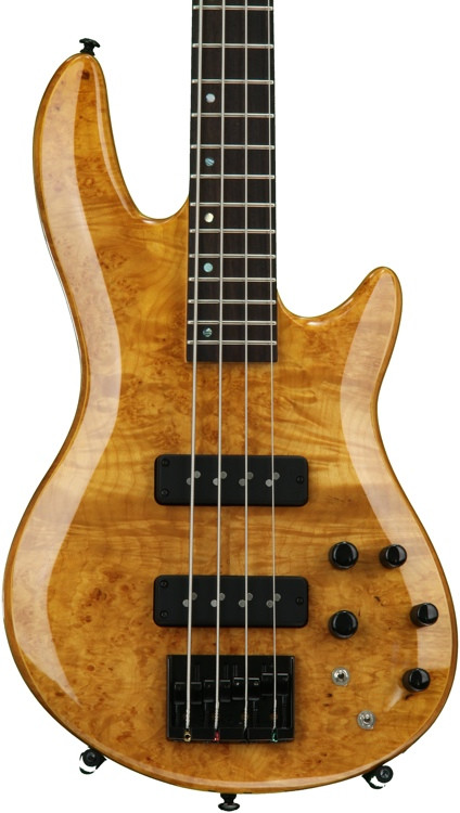 ESP LTD H-1004 Burled Maple - Honey Natural image 1